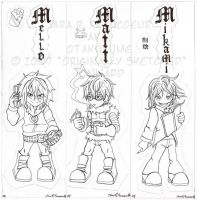 Death Note Chibis- Set 2 Inked by Otakuyume