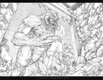 STAR WARS , Oola in the rancor pit by paulobarrios