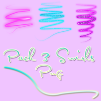 Pack 3 Swirls PNG by BellaThorneAlways