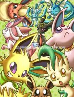 Eeveelutions by sapphireluna