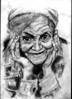 Random old womans picture ( drawn by pencil) by nymery