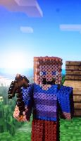 Stylish Steve In the Minecraft World (iPhone BK) by Xzavier-JP