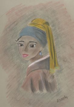 Tiana with a Pearl Earring by SparklySockz