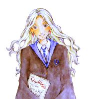 HP - Luna Lovegood with The Quibbler by BotanicaXu