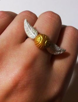 Golden Snitch (ring) by ThatPeskyNargle