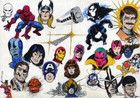 Marvel Heroes - (1981) by SilvioGiacomini