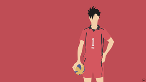 Kuroo Tetsurou (Haikyuu!!) Minimalist Wallpaper by greenmapple17
