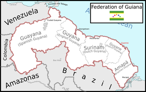 Map of the Federation of Guiana by Coliop-Kolchovo