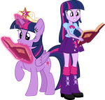 Twilight Sparkle and Twilight Sparkle by Vector-Brony