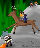 Yami, Kai and Blitzen_colour by Bayleef-