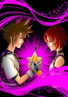 Kairi and Sora by SarahStarScream