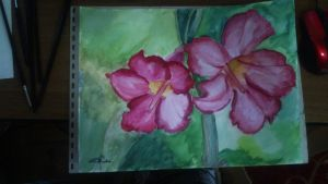 Flowers -Watercolor by A-Man-With-No-Art