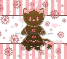 Gingerbread Cat by nanecakes