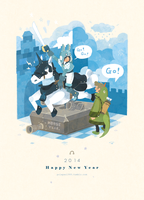Happy New Year 2014 by freestarisis