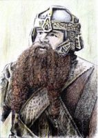 John Rhys-Davies as Gimli PSC by whu-wei