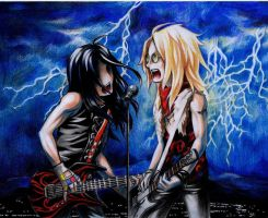 Alice Cooper band guitarists by marona-chan