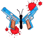 Gun Butterfly by Shineyfish