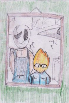Gaster and Alphys by AutumnLeaf1230