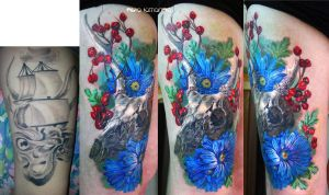 forest still life tattoo by NikaSamarina