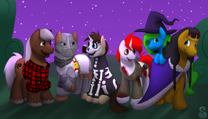 Commission: Nightmare Night Costumes by Shrineheart