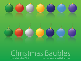 Christmas Baubles Stock Images by Natnie