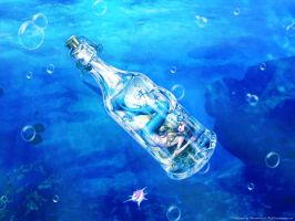 mermaid in a bottle by ouctpark