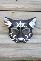 Custom Birthday Cat Mask by SilverCicada
