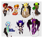 Seven Deadly Adoptables by Pyonkotcchi