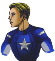 Daily Sketch Challenge: Captain America by Rayne-Gryfen