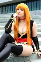 Kasumi Cosplay (Black Suit) from Dead or alive! by Ao-nir