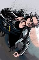 Days of Future Past Quicksilver Pin-up by amtaylor12