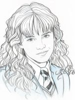 HERMIONE PORTRAIT by Jerome-K-Moore