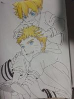 Father and son(Naruto and Boruto) WIP by lucasnava