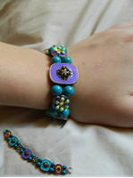Rainbow Flower Bracelet by DOC-Ash1391