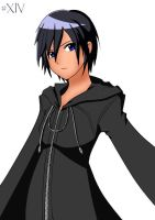 Xion Colored :CrimsonFoxTails: by RoxaSora714