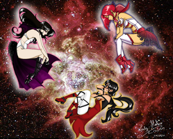 Deep space senshi by LadyMako