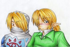 Shiek and Link -bgless- by kurokawa-ayumi