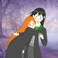 Lily Evans and Severus Snape by Aura3107