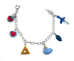 Zelda charm bracelet by Blackash