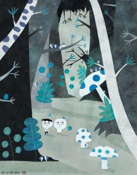 Blue forest by nicolas-gouny-art
