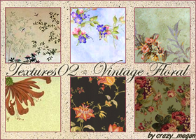 Textures02 - Vintage Floral by crazymegan