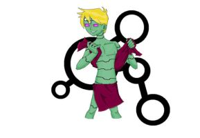 Brainiac 5 After Shower by ApAtHeTIcBuNnY