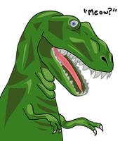 Meow-Rex by Catsby