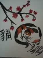 Cat- Chinese Style by XxMoonlight-1-WishxX