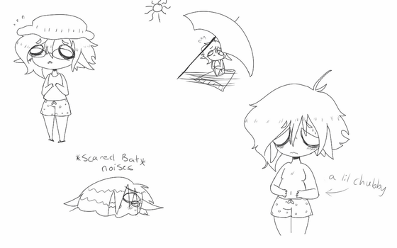 Summer doodles: Harris's least favorite season by PastelPastryClown