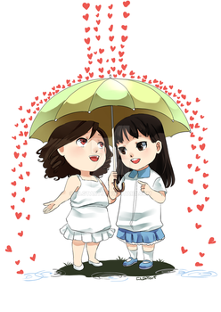 [Commission] Love rain. by clgtart