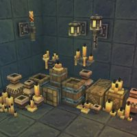 3D Pixel Dungeon Deco Set 01 by bitgem
