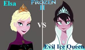 Elsa VS Evil Ice Queen by Astrogirl500