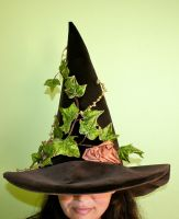 Woodland Witch Hat by mermaidencreations