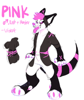 new oc and fursuit pink by jeniior